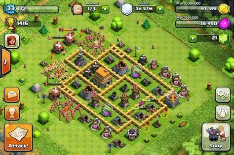 contoh bio clan coc contoh base clash of clans untuk townhall level 6 full