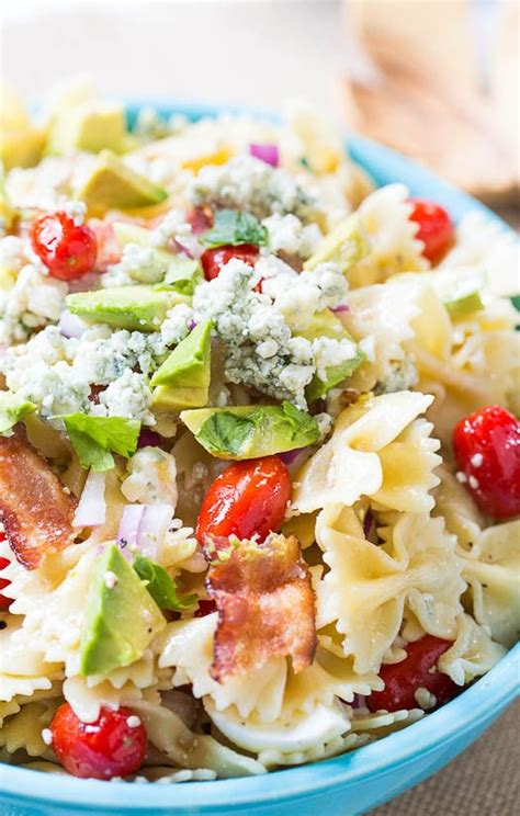 pasta salad with bacon bacon bow ties and salads on pinterest