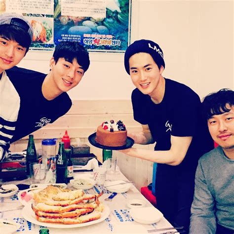 film suho exo glory day exo s suho celebrates his birthday with cast of his new