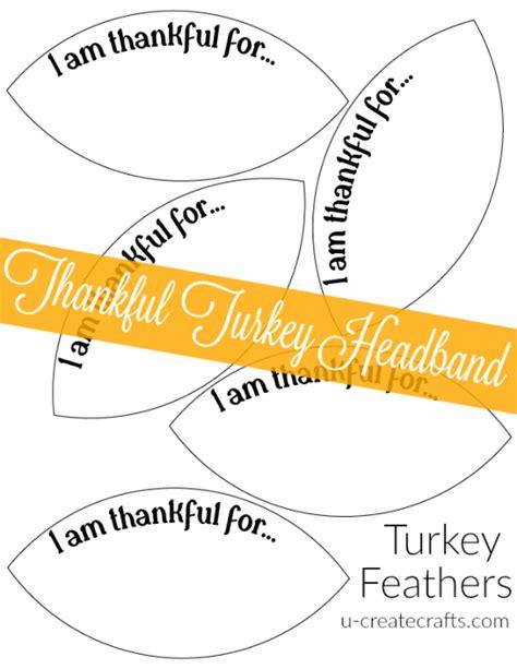 thankful turkey headband u create