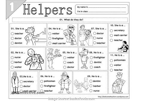 best worksheet on community helpers for grade 2 worksheets