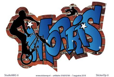 muursticker graffiti sport morris