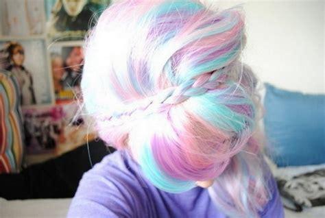 multi color hair multi colored hair chalk medium hair styles ideas 46397