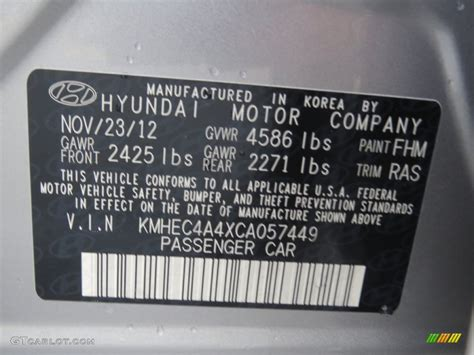 2012 hyundai sonata hybrid color code photos gtcarlot
