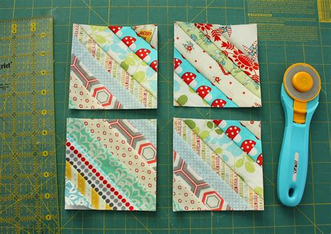 Patchwork Tutorials Free - gorgeous mini scrap quilt tutorial fabric strips