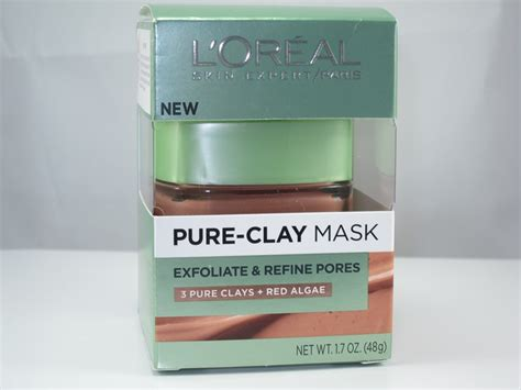 Masker Loreal l oreal clay mask exfoliate and refine pores review