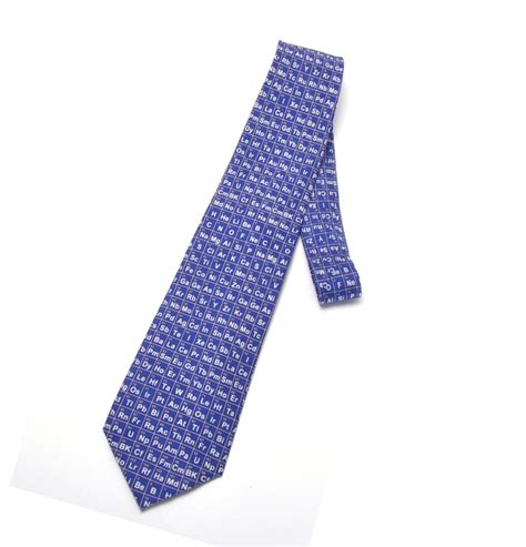 periodic table silk tie pink cat shop