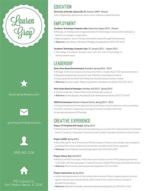 resume exles for creative professionals resume