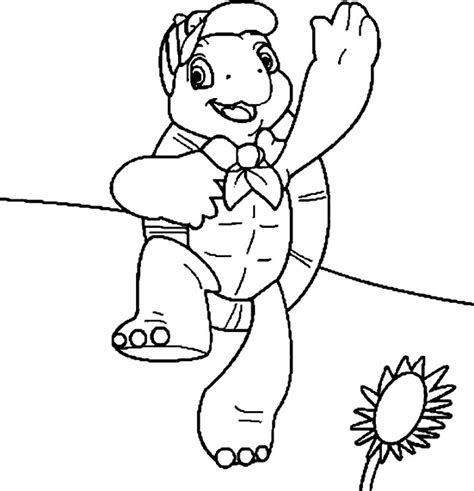 Franklin The Turtle Coloring Pages franklin turtle coloring pages az coloring pages