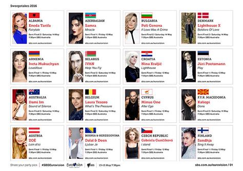 Complete Sweepstakes List - complete contests and sweepstakes list all sweepstakes your complete eurovision 2016