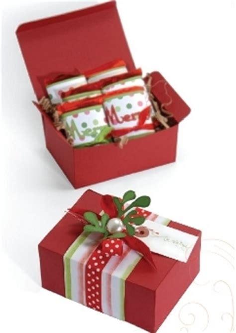 christmas gift box  sizzix favecraftscom