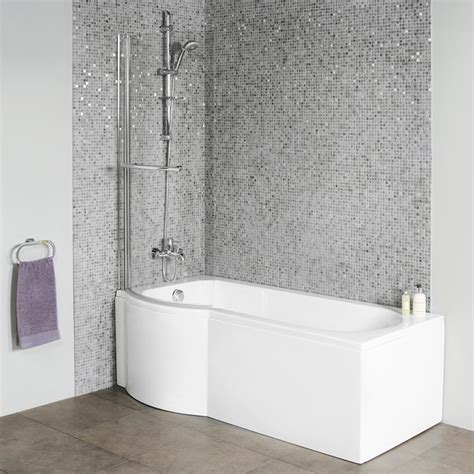 p shaped bathtub dee 1600 x 800 left hand p shaped shower bath with curved