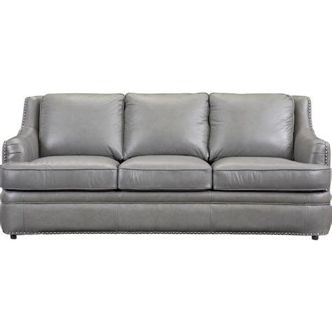 Gray Leather Nailhead Sofa Sofa Menzilperde Net Gray Nailhead Sofa