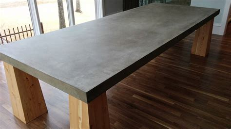 quot gather around quot a cement table top in dallas tx