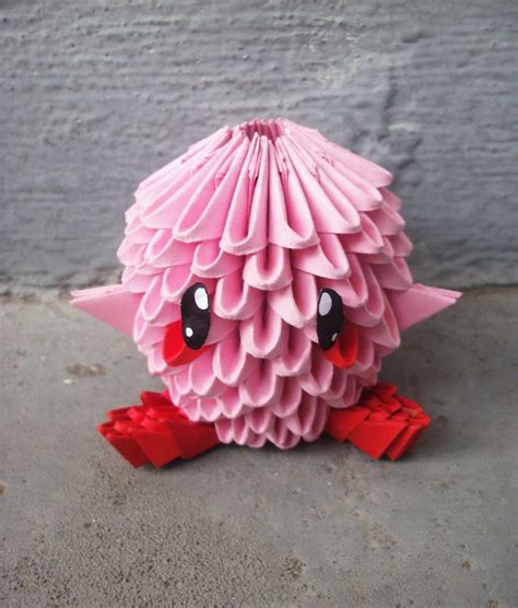 3d Origami Simple - chibi kirby 3d origami by sophieekard on deviantart