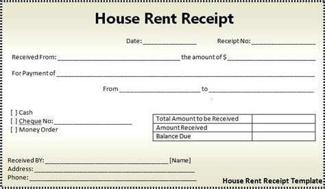 landlord rent receipt template landlord rent receipt template rental receipt form rental
