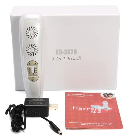 light therapy hair growth comb 3 in 1 micro current pulsed light laser hair