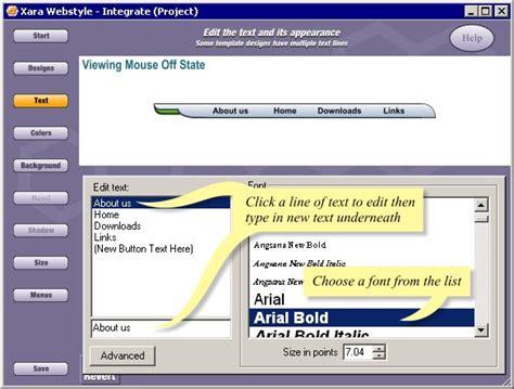 website navbar tutorial xara webtyle tutorials