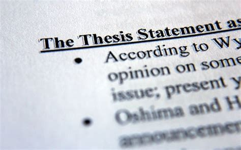 Compose Strong Thesis by Tips For Writing Thesis Statement And Thesis