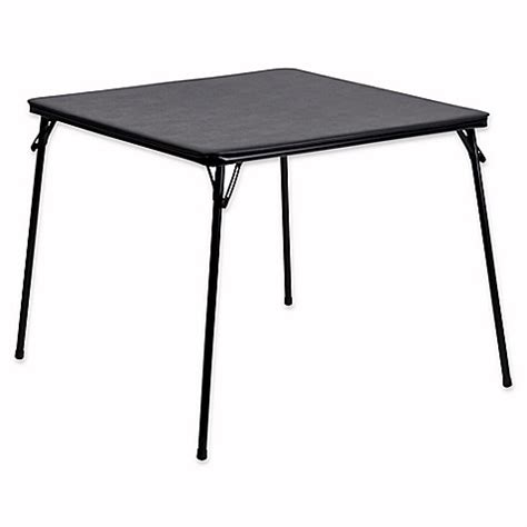 bed bath beyond folding table buy flash furniture folding card table in black from bed