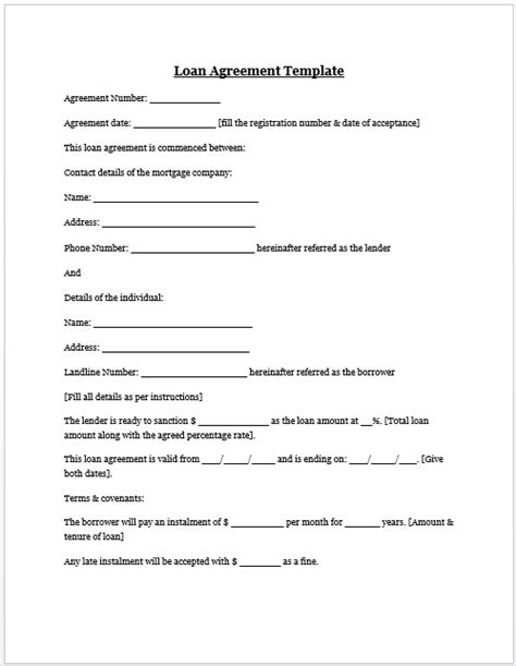 borrow money contract form templates resume exles
