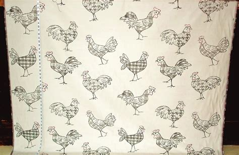 rooster print upholstery fabric retro rooster and travel poster fabrics new 30 april