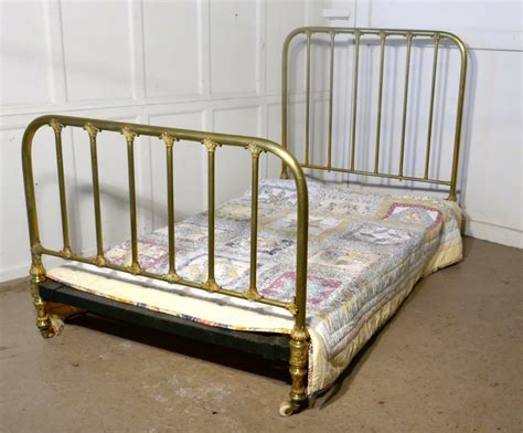 big brass bed superb quality victorian brass large single bed 474545