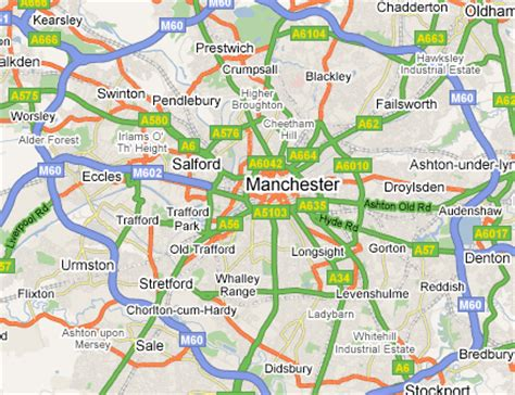 map uk manchester greater manchester area