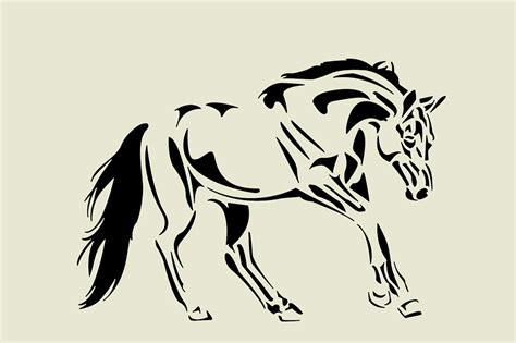 Sticker Quotes For Walls horse stencil various sizes apex laser craft