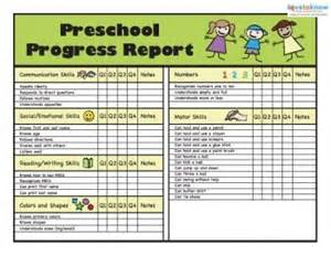 preschool progress report template report cards card templates and templates on