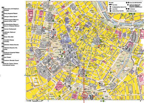 printable street map of llandudno vienna tourist map vienna austria mappery