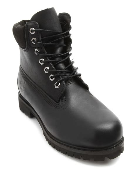 black timberland boots for timberland 6 inch premium black boots in black for lyst