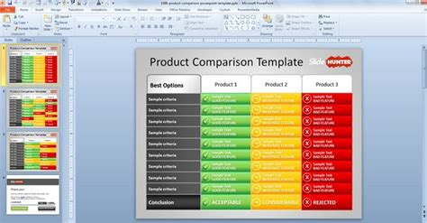 design powerpoint table free product comparison powerpoint template