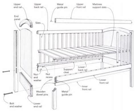 Blueprints For Baby Crib Free Downloadable Baby Crib Plans Studio Design Gallery Best Design