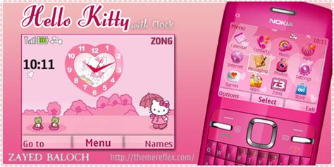 Themes Nokia Hello Kitty | hello kitty themes for nokia c3