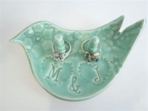 his and hers personalized ceramic ring holder unique