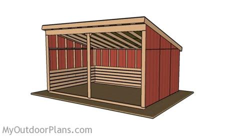 Free Run In Shed Plans 12x18 run in shed roof plans myoutdoorplans free
