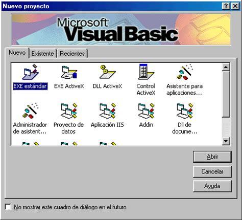 imagenes visual basic 6 0 ricardo oh sobre el entorno gr 225 fico de visual basic 6 0