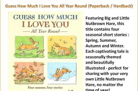 Guess How Much I You In The Winter By Sam Mc Bratney Jeram world of wonders guess how much i you all year paperback hardback