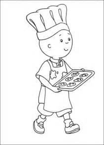 caillou el cocinero dibujos colorear ni 241 os