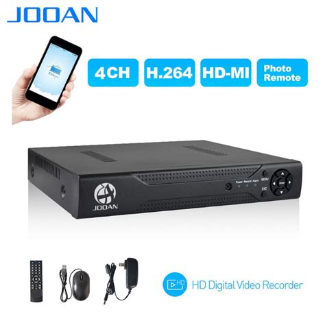 Paket Cctv 4channel 5in1 1080n jooan 4ch 1080n cctv dvr compatible ahd tvi cvi ipc cvbs security syst free shipping dealextreme