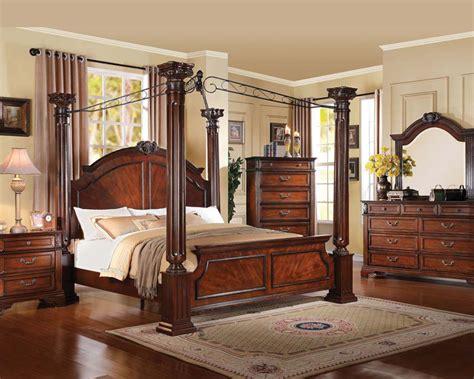 acme bedroom set  walnut roman empire iii acset