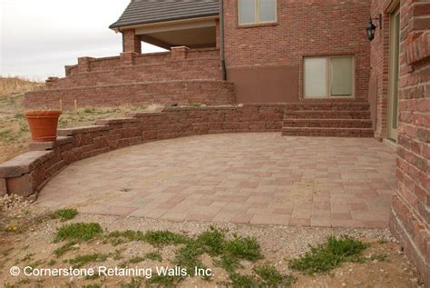 Paver Patio With Retaining Wall Denver Colorado Paver Patios And Other Paver Construction Projects