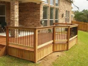 Patio Railings Designs by Exterior Cedar Deck Railing Composite Wood Glass Deck