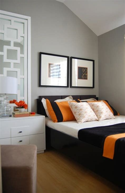 Modern Bedroom Orange Bedroom Small Space Orange And Grey Bedroom Modern Bedroom