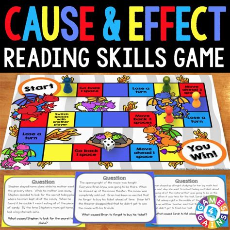 cause and effect printable card games cause and effect board game products cause and effect