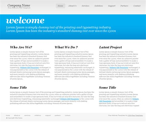 Simple Homepage Template simple typography website css template website css templates