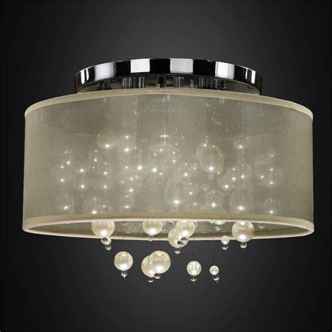 flush mount drum light drum shade flush mount ceiling light pearl like beads