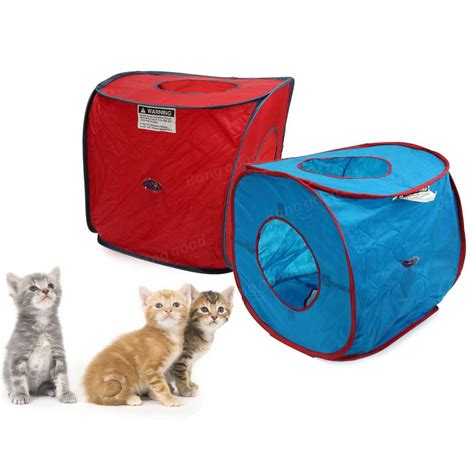 pop up dog house portable cat tent pop up dog kitten play cube cat puppy rabbit house bed pet toy