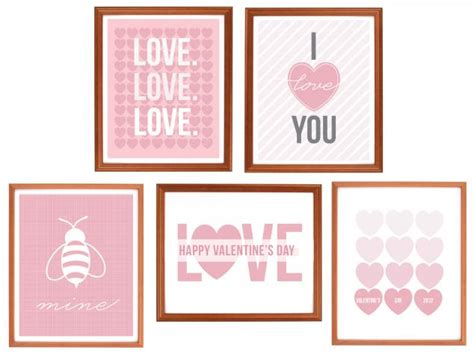 valentine wall art printable it s written on the wall free over 50 valentine s day